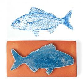 Art Stamp <br>Besugo / <em>Sea Bream</em>