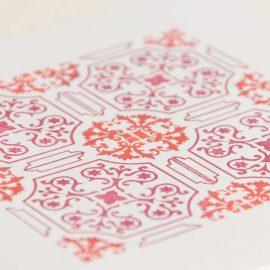 Hand Stamped Card <br>Rua da Saudade