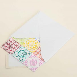 Hand Stamped Card <br>Azulejos