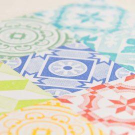 Hand Stamped Card <br>Algarve Floor Tiles